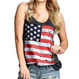 american flag off shoulder blouse