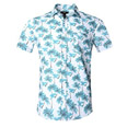 casual style tropical palms prints family outfits