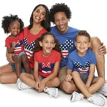 Disneys Mickey & Minnie Mouse Americana Graphic Tops By Family Fun