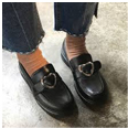 Satomi Heart Buckle Loafers