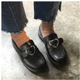 Satomi Heart Buckle Loafers