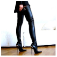 side zipper stiletto heel pointed toe over the knee women's boots
