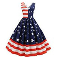 vintage cocktail dress 4th of july swing dress